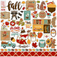 Echo Park - Celebrate Autumn Collection - 12 x 12 Cardstock Stickers - Elements