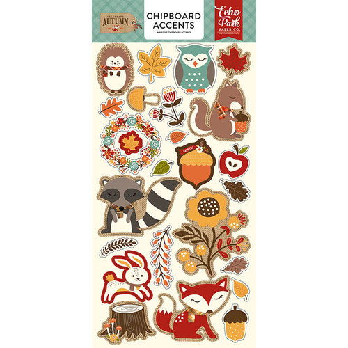 Echo Park - Celebrate Autumn Collection - Chipboard Stickers - Accents