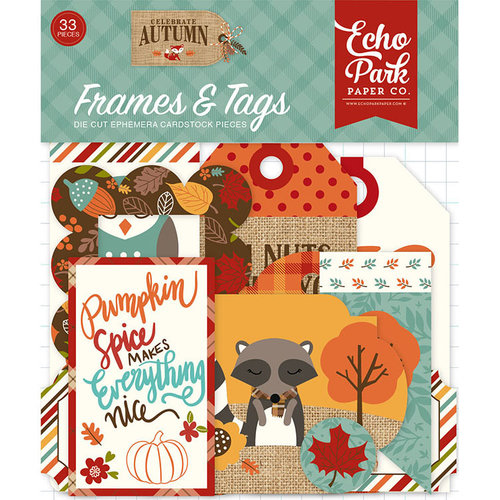 Echo Park - Celebrate Autumn Collection - Frames and Tags