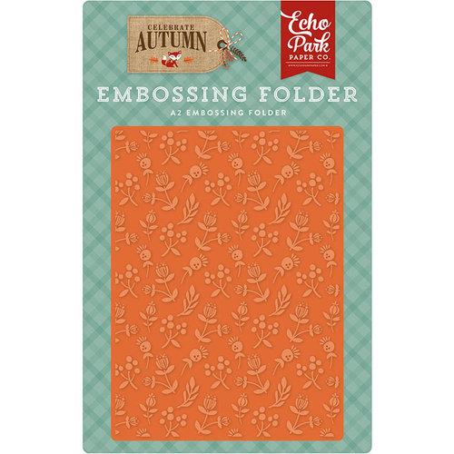 Echo Park - Celebrate Autumn Collection - Embossing Folder - Autumn Florals