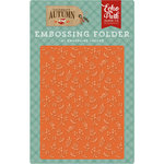 Echo Park - Celebrate Autumn Collection - Embossing Folder - Autumn Florals