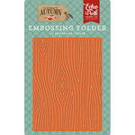 Echo Park - Celebrate Autumn Collection - Embossing Folder - Wood Grain
