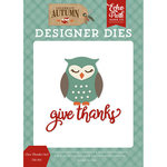 Echo Park - Celebrate Autumn Collection - Designer Dies - Give Thanks Owl