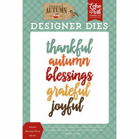 Echo Park - Celebrate Autumn Collection - Designer Dies - Autumn Blessings Word