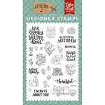 Echo Park - Celebrate Autumn Collection - Clear Acrylic Stamps - Nuts About You