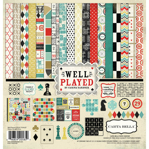 Carta Bella Paper - Well Played Collection - 12 x 12 Collection Kit
