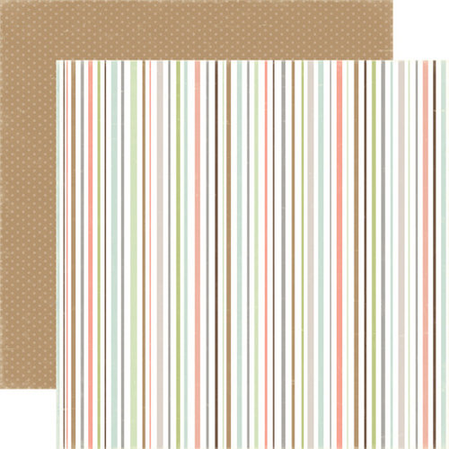 Carta Bella - Rustic Elegance Collection - 12 x 12 Double Sided Paper - Multi Stripe