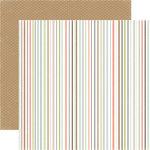 Carta Bella - Rustic Elegance Collection - 12 x 12 Double Sided Paper - Multi Stripe