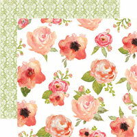 Carta Bella - Rustic Elegance Collection - 12 x 12 Double Sided Paper - Flowers