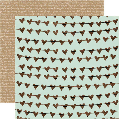 Carta Bella - Rustic Elegance Collection - 12 x 12 Double Sided Paper - Heart Garland