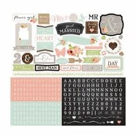 Carta Bella - Rustic Elegance Collection - 12 x 12 Cardstock Stickers - Elements