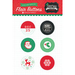 Echo Park - Christmas Cheer Collection - Adhesive Flair Buttons