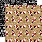 Echo Park - Celebrate Christmas Collection - 12 x 12 Double Sided Paper - Here Comes Santa