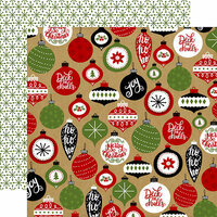 Echo Park - Celebrate Christmas Collection - 12 x 12 Double Sided Paper - Deck The Halls
