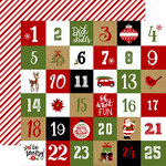 Echo Park - Celebrate Christmas Collection - 12 x 12 Double Sided Paper - Christmas Countdown