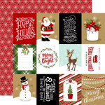 Echo Park - Celebrate Christmas Collection - 12 x 12 Double Sided Paper - 3 x 4 Journaling Cards