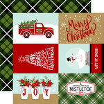 Echo Park - Celebrate Christmas Collection - 12 x 12 Double Sided Paper - 4 x 6 Journaling Cards