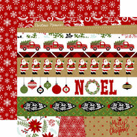 Echo Park - Celebrate Christmas Collection - 12 x 12 Double Sided Paper - Border Strips