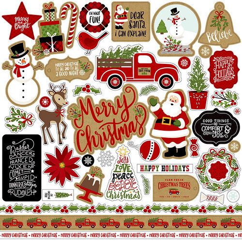 Echo Park - Celebrate Christmas Collection - 12 x 12 Cardstock Stickers - Elements