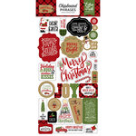 Echo Park - Celebrate Christmas Collection - Chipboard Stickers - Phrases