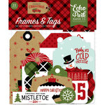 Echo Park - Celebrate Christmas Collection - Ephemera - Frames and Tags