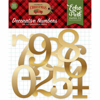 Echo Park - Celebrate Christmas Collection - Gold Foil Numbers