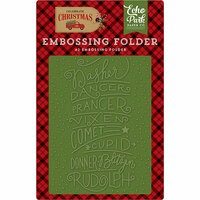 Echo Park - Celebrate Christmas Collection - Embossing Folder - Reindeer Names