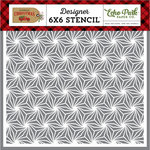 Echo Park - Celebrate Christmas Collection - 6 x 6 Stencil - Poinsettia Pattern