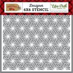 Echo Park - Celebrate Christmas Collection - 6 x 6 Stencil - Poinsettia Pattern
