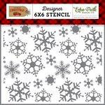 Echo Park - Celebrate Christmas Collection - 6 x 6 Stencil - Magical Snowfall