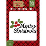 Echo Park - Celebrate Christmas Collection - Designer Dies - Merry Christmas Holly