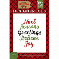Echo Park - Celebrate Christmas Collection - Designer Dies - Believe in Christmas Word
