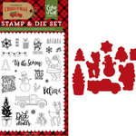Echo Park - Celebrate Christmas Collection - Designer Dies and Clear Acrylic Stamp Set - Deliver Christmas
