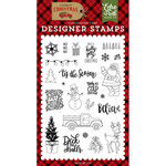 Echo Park - Celebrate Christmas Collection - Clear Acrylic Stamps - Deliver Christmas