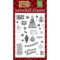 Echo Park - Celebrate Christmas Collection - Clear Photopolymer Stamps - Christmas Day