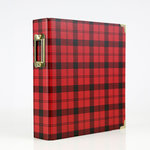 Echo Park - Celebrate Christmas Collection - 6 x 8 Album - Red Plaid