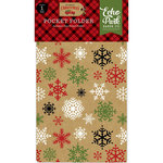 Echo Park - Celebrate Christmas Collection - Travelers Notebook Insert - Pocket Folder