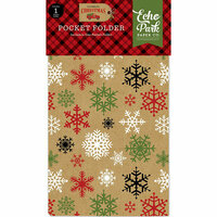 Echo Park - Celebrate Christmas Collection - Travelers Notebook Insert - Pocket Folder