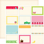 Echo Park - Country Drive Collection - 12 x 12 Double Sided Paper - Journaling Cards
