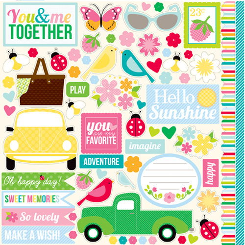 Echo Park - Country Drive Collection - 12 x 12 Cardstock Stickers - Elements