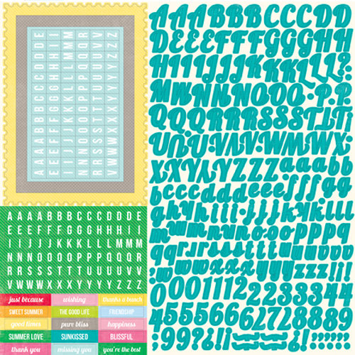 Echo Park - Country Drive Collection - 12 x 12 Cardstock Stickers - Alphabet