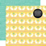 Echo Park - Celebrate Easter Collection - 12 x 12 Double Sided Paper with Glossy Accents - Funny Bunny
