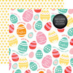 Echo Park - Celebrate Easter Collection - 12 x 12 Double Sided Paper with Glossy Accents - Colored Eggs