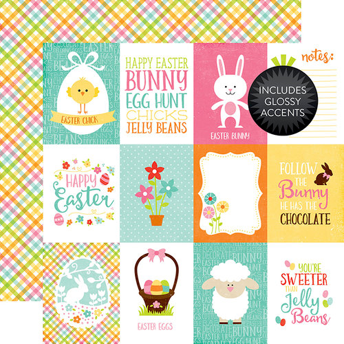 Echo Park - Celebrate Easter Collection - 12 x 12 Double Sided Paper with Glossy Accents - 3 x 4 Journaling Cards
