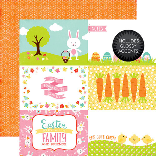 Echo Park - Celebrate Easter Collection - 12 x 12 Double Sided Paper with Glossy Accents - 4 x 6 Journaling Cards