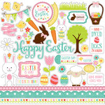 Echo Park - Celebrate Easter Collection - 12 x 12 Cardstock Stickers - Elements