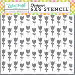 Echo Park - Celebrate Easter Collection - 6 x 6 Stencil - Tulip