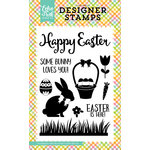 Echo Park - Celebrate Easter Collection - Clear Acrylic Stamps - Easter is Here