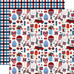 Echo Park - Celebrate America Collection - 12 x 12 Double Sided Paper - Liberty