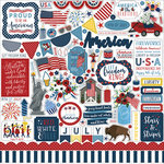 Echo Park - Celebrate America Collection - 12 x 12 Cardstock Stickers - Elements